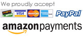Credit Cards, PayPal, Amazon